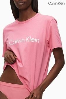 Calvin Klein Pink Branded Loungewear T-Shirt