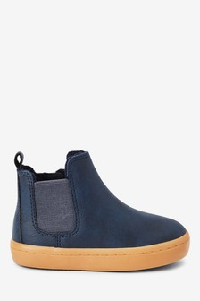 Navy Chelsea Boots (Younger)