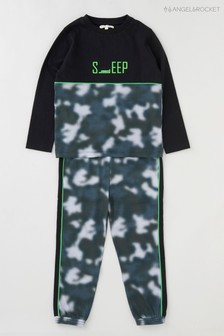 Angel & Rocket Green Sleep Camo Pyjamas