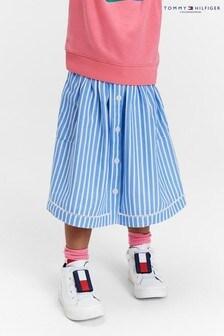 Tommy Hilfiger Blue Ladder Lace Striped Skirt