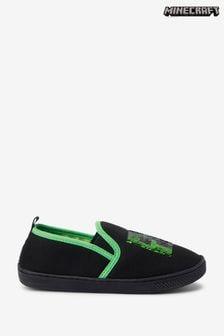 Black/Green Minecraft Cupsole Slippers