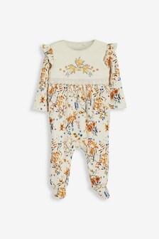 Ochre Smart Floral Sleepsuit (0mths-2yrs)