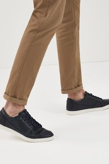Black Perforated Trainers