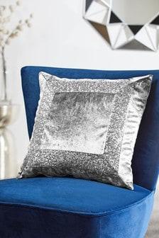 Sequin Border Cushion