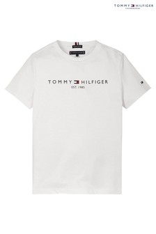 Tommy Hilfiger White Essential Logo T-Shirt