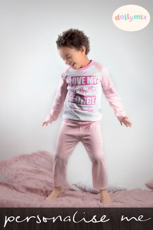 Personalised I Love My Sister/Brother Pyjamas by Dollymix