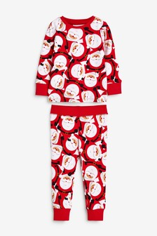 Red Santa Christmas Snuggle Pyjamas (9mths-12yrs)