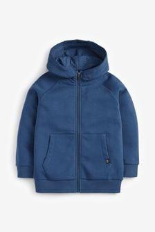 Mid Blue Zip Through Hoodie (3-16yrs)