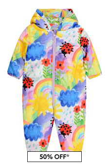 Baby Girls Weather Paint Padded Snowsuit