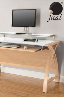 Helsinki 1300 Oak Desk by Jual