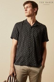 Ted Baker Snooze Short Sleeve Large Diamond Print Shirt