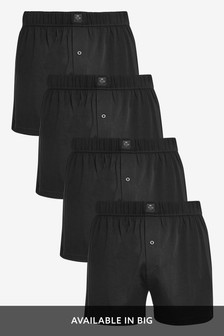 Essential Black Loose Fit Four Pack