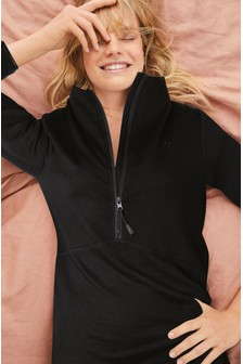 Black Thermogen Half Zip Top