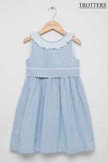 Trotters London Blue Chloe Anglaise Dress