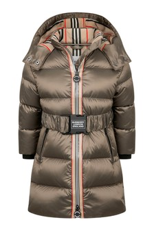 Girls Grey Padded Coat