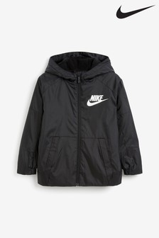 Nike Little Kids Black Fleece Lined Jacket