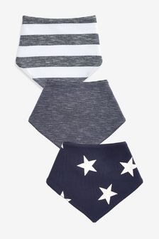Navy/White 3 Pack Star Dribble Bibs