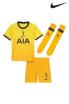 Nike Yellow Tottenham Hotspur Third 20/21 Kids Mini Kit