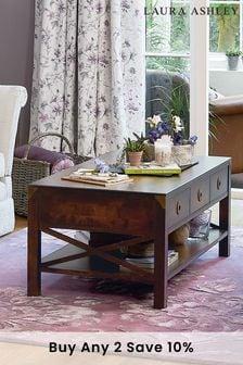 Dark Chestnut Balmoral Dark Chestnut 3 Drawer Coffee Table by Laura Ashley