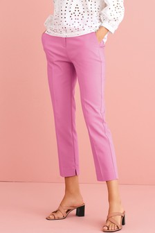 Pink Tailored Chino Trousers