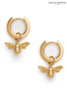 Olivia Burton Lucky Bee Huggie Hoop Earrings