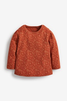 Brown Sparkle Basic Long Sleeve T-Shirt (3mths-7yrs)