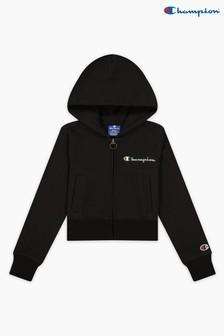 Champion Black Hooded Full Zip Sweatshirt