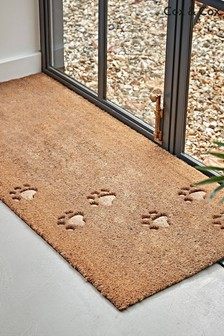 Embossed Paw Print Doormat