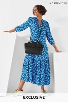 Mix/Cefinn Floral Print Midi Dress
