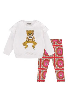 Baby Girls Ivory Cotton Sweater And Leggings Set
