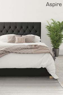 Ebony Aspire Olivier Ottoman Bed