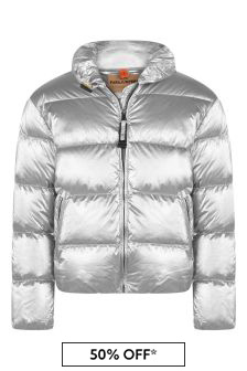 Girls Silver Pia Down Padded Jacket