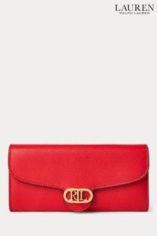 Lauren Ralph Lauren® Red Leather Continental Large Purse
