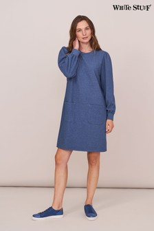 White Stuff Blue Cosy Sweat Dress