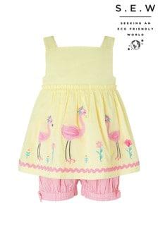 Monsoon Yellow S.E.W. Baby Fifi Flamingo Set