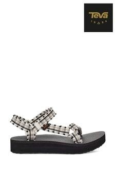 Teva® Black/White Midform Fray Sandals