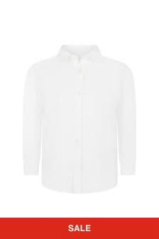 قميص قطن أبيض أولادي