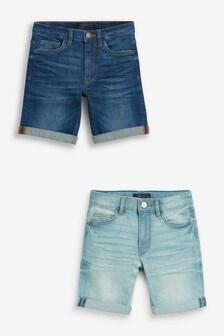 Blue 2 Pack Denim Shorts (3-16yrs)