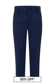 Boys Navy Wool Suit Trousers
