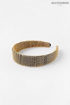 Accessorize Gold Chain Wrapped Headband