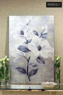 Magnolia Metallic Canvas by Arthouse