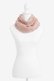 Pink Sparkle Snood Scarf