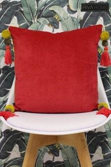 Poonam Reversible Tassel Cushion by Riva Home