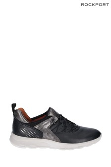 Rockport Black Lets Walk Bungee Trainers