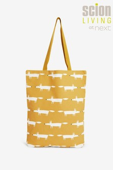 Ochre Scion At Next Fox Cotton Reusable Bag For Life