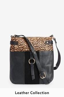 Animal Leather Messenger Bag