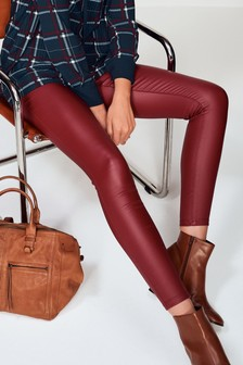 Red Coated Skinny Jeans
