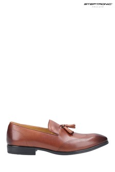 Steptronic Brown Frome Slip-On Loafers