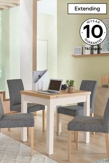 Classic Cream Malvern 4-6 Seater Square To Rectangle Dining Table