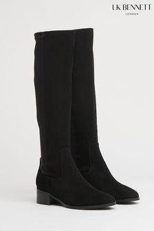 L.K.Bennett Black Bella Stretch Knee Boots